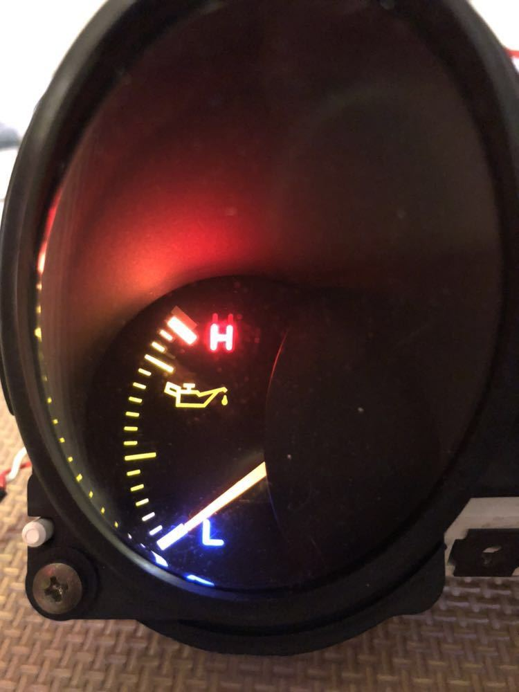 三菱GTO 中期純正3連メーター LED加工品_画像2