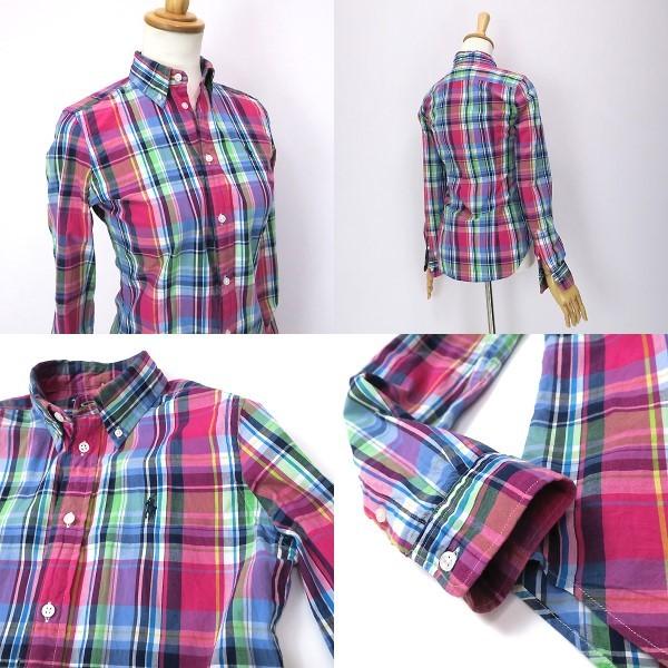 ラルフローレン 好配色◎マルチカラーチェックシャツ 4(M)_画像4
