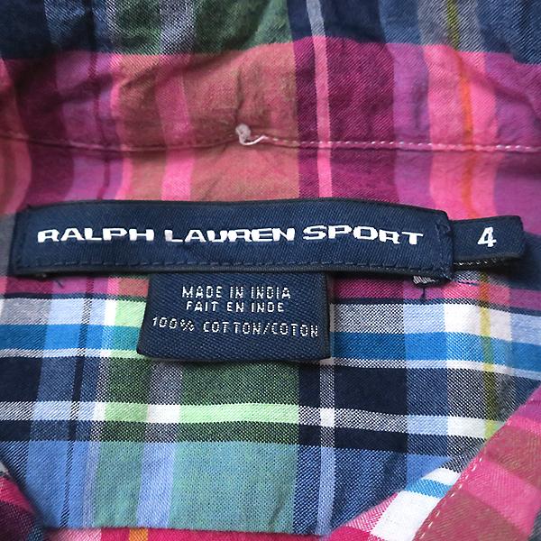 ラルフローレン 好配色◎マルチカラーチェックシャツ 4(M)_画像7