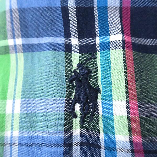 ラルフローレン 好配色◎マルチカラーチェックシャツ 4(M)_画像2