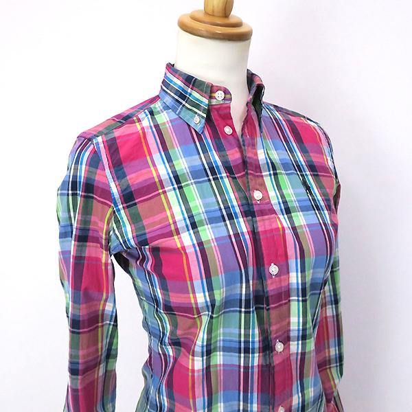 ラルフローレン 好配色◎マルチカラーチェックシャツ 4(M)_画像5
