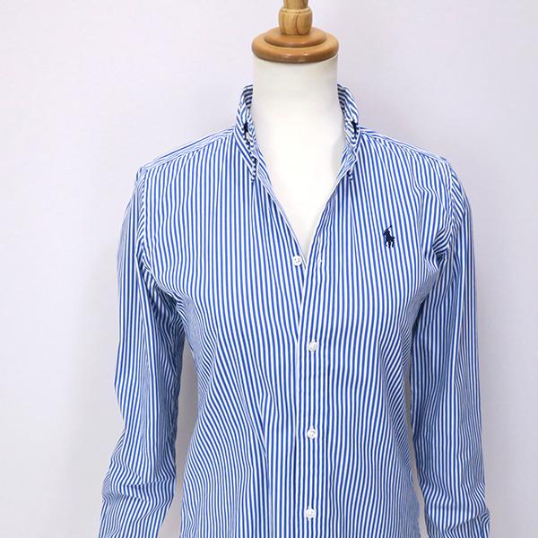 ラルフローレン SlimFit ブルーストライプ ボタンダウンシャツ 4(M)_画像8
