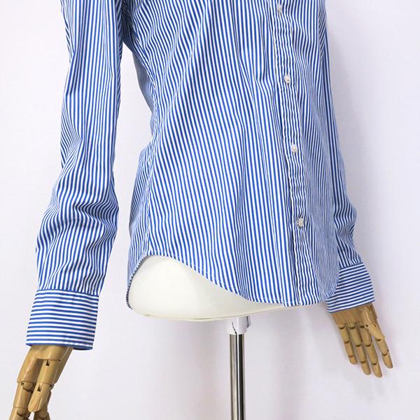 ラルフローレン SlimFit ブルーストライプ ボタンダウンシャツ 4(M)_画像9
