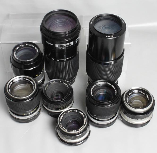 041819 【レトロニコン一眼レフ ジャンク品】 Nikon レトロ一眼レフ&レンズ・ストロボ 合計13点 まとめて_画像7