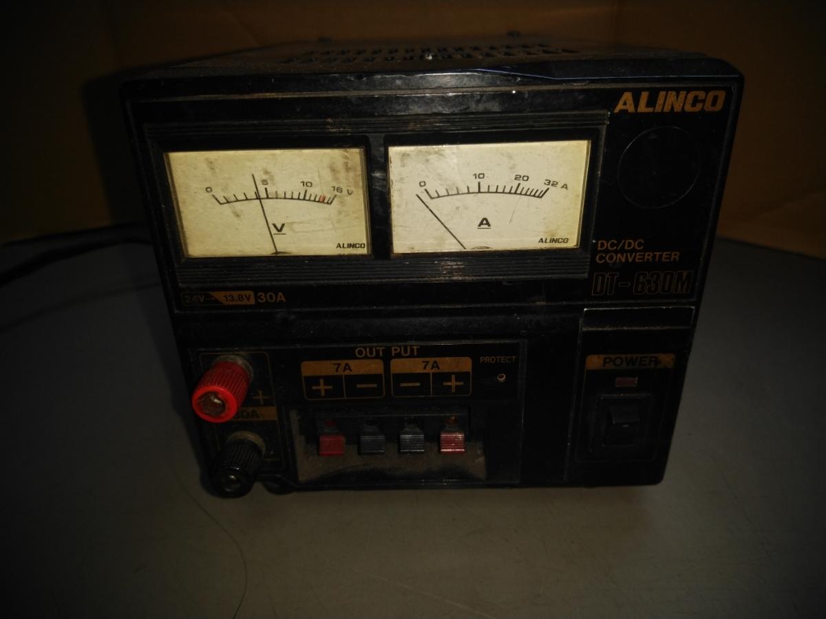 ALINCO/アルインコ DC/DC CONVERTER DT-630M 変圧器 24V~13.8V 30A 中古_画像3