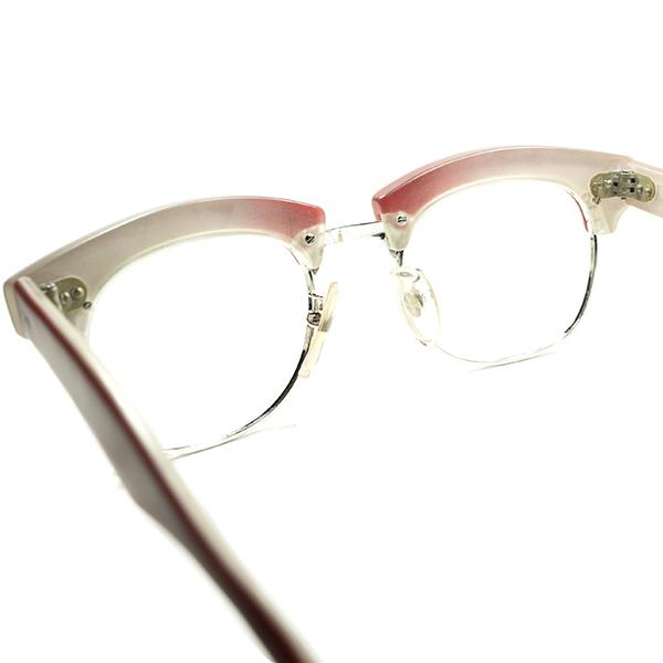 初期代表作品 グルメインスパイア超鋭角DESIGN 1980sデッドITALY製 l.a.Eyeworksアイワークス 極太ブロータイプ眼鏡 霜降りミート柄 a6237_画像4