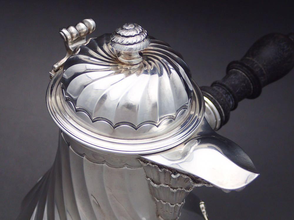 カルディヤック Cardeilhac 純銀無垢(シルバー950) 重厚 チョコレートポット_画像6