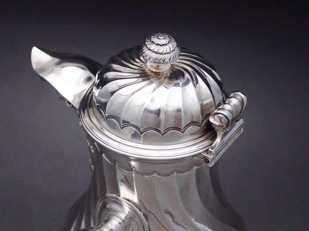 カルディヤック Cardeilhac 純銀無垢(シルバー950) 重厚 チョコレートポット_画像5