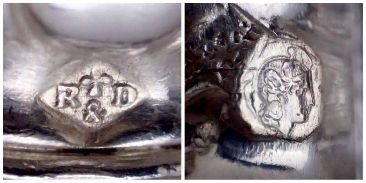 フランス アールヌーヴォー期 純銀無垢ハンドル サラダスプーン、フォークのセット 元箱付き 【Ravinet d'Enfert銀工房】_画像9