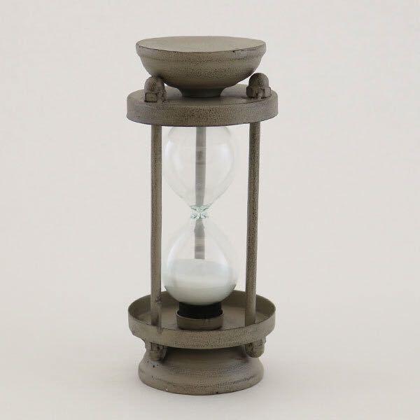 グランシュマン 砂時計 約5分 アンティーク調 インテリア 置物 ブラウン スチール 新品