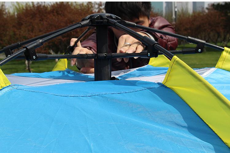 テント キャンプ 6-8人用 大型ワンタッチテント 持上げ式 ワンタッチで簡単設営 通気性抜群 収納袋 キャンプ用品 レジャー スポーツ_画像5