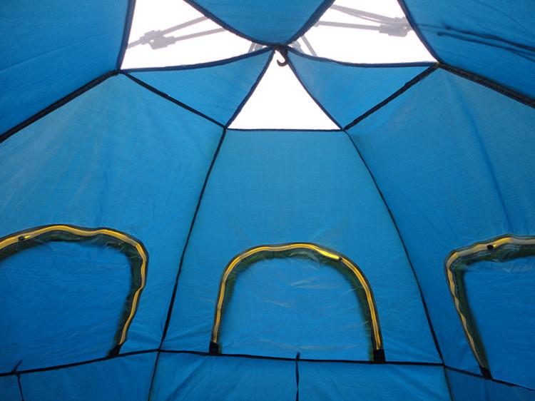 テント キャンプ 6-8人用 大型ワンタッチテント 持上げ式 ワンタッチで簡単設営 通気性抜群 収納袋 キャンプ用品 レジャー スポーツ_画像6