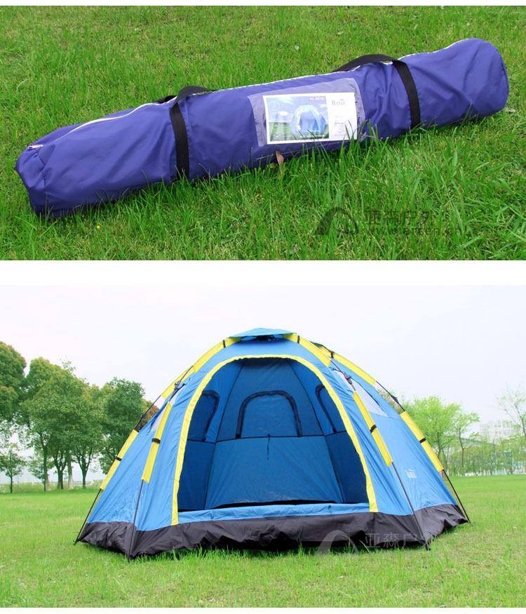 テント キャンプ 6-8人用 大型ワンタッチテント 持上げ式 ワンタッチで簡単設営 通気性抜群 収納袋 キャンプ用品 レジャー スポーツ_画像8