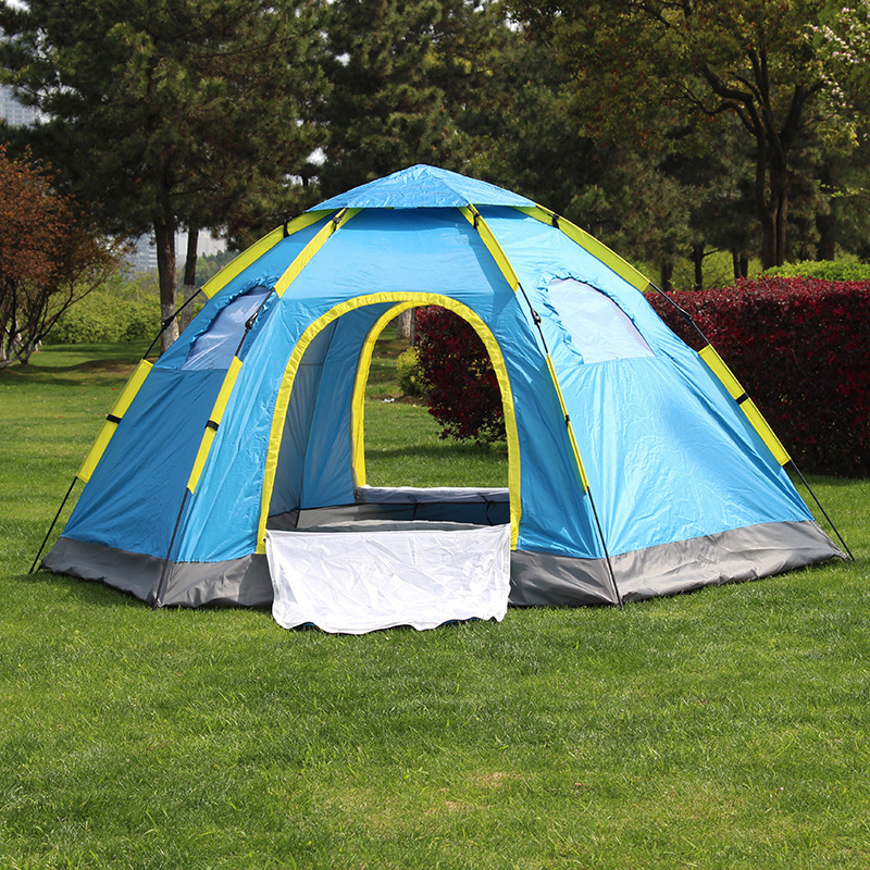 テント キャンプ 6-8人用 大型ワンタッチテント 持上げ式 ワンタッチで簡単設営 通気性抜群 収納袋 キャンプ用品 レジャー スポーツ