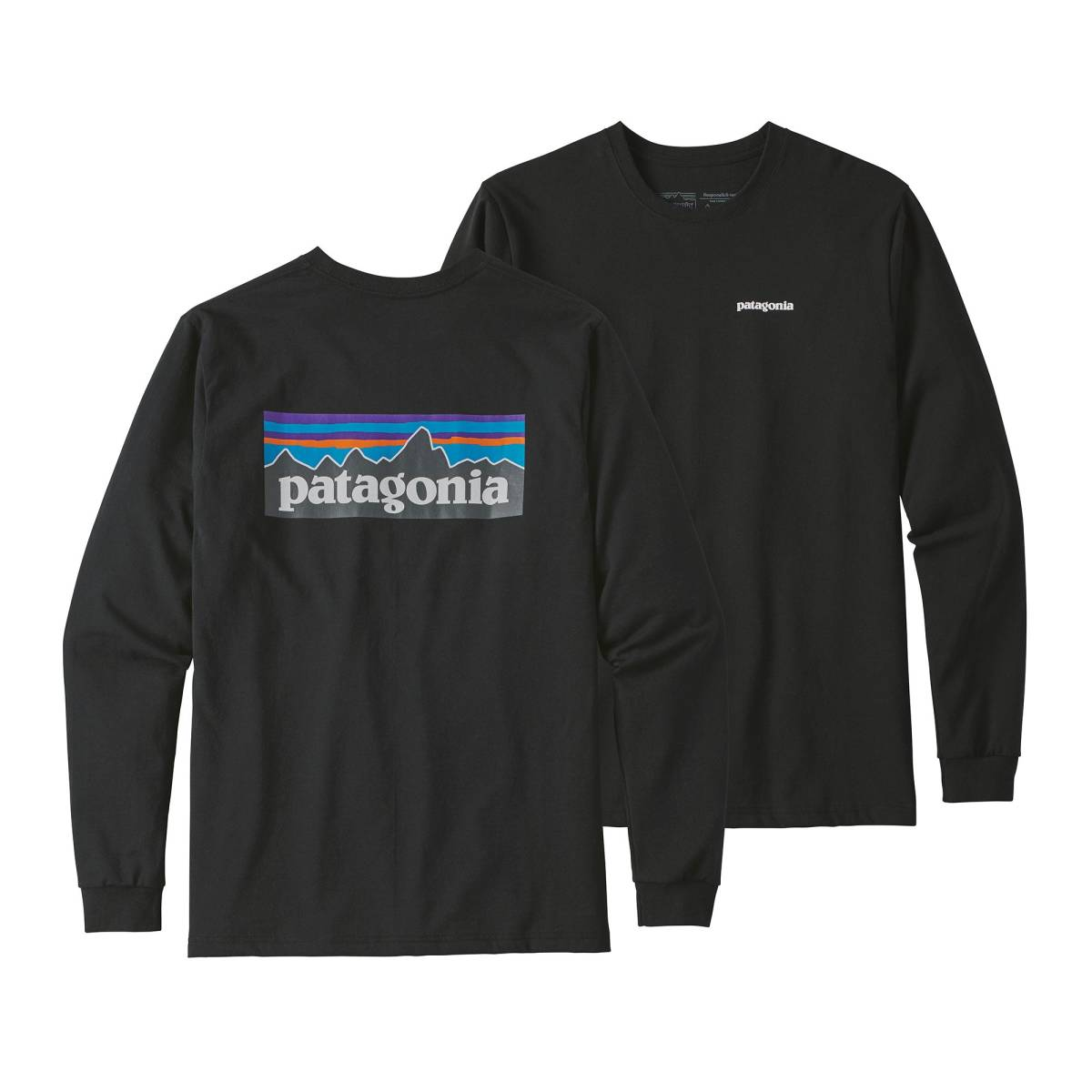 Patagonia Men's L/S P-6 Logo Responsibili-Tee パタゴニア メンズ ロングスリーブ P-6ロゴ レスポンシビリティー 39161 長袖 黒 Lサイズ