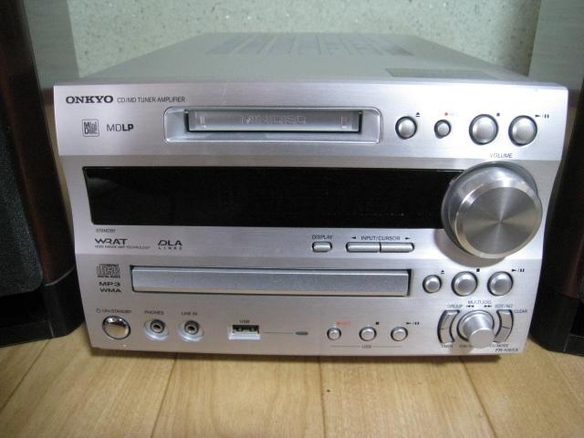 ONKYO MD/CD チューナーアンプ・スピーカー セット FR-N9SX/D-N9SX_画像2