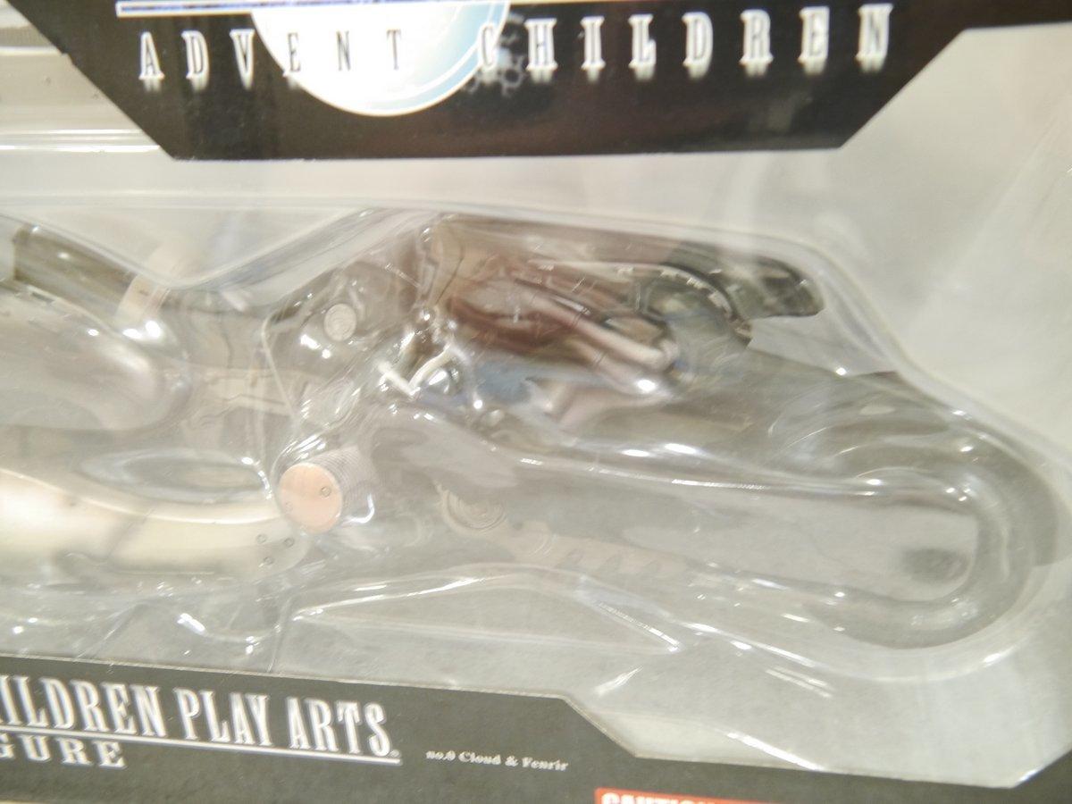 74.ファイナルファンタジーⅦフィギュア未開封/Final Fantasy 7 ADVENT CHILDREN PLAY ARTSクラウドJapanフェンリルFigures FF7完成品_画像3