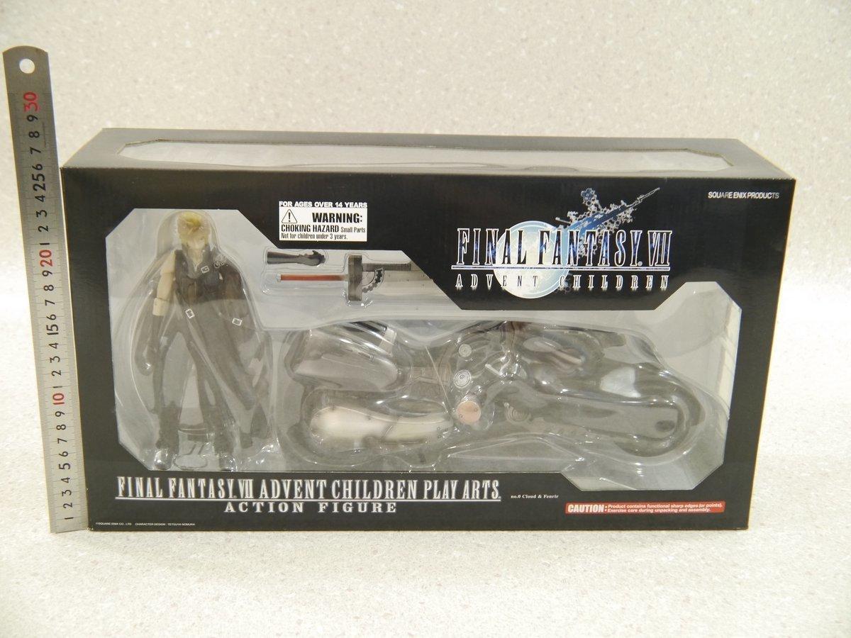 74.ファイナルファンタジーⅦフィギュア未開封/Final Fantasy 7 ADVENT CHILDREN PLAY ARTSクラウドJapanフェンリルFigures FF7完成品