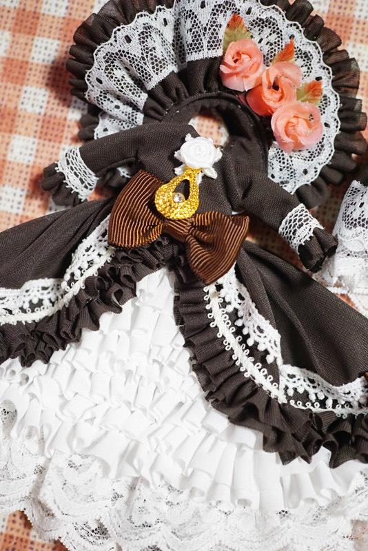 【恋鞠堂】オビツ11サイズ・クラシカルドレス(ビターチョコレートブラック)_画像7