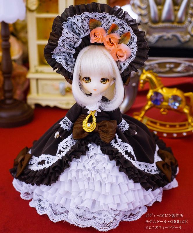 【恋鞠堂】オビツ11サイズ・クラシカルドレス(ビターチョコレートブラック)_画像2