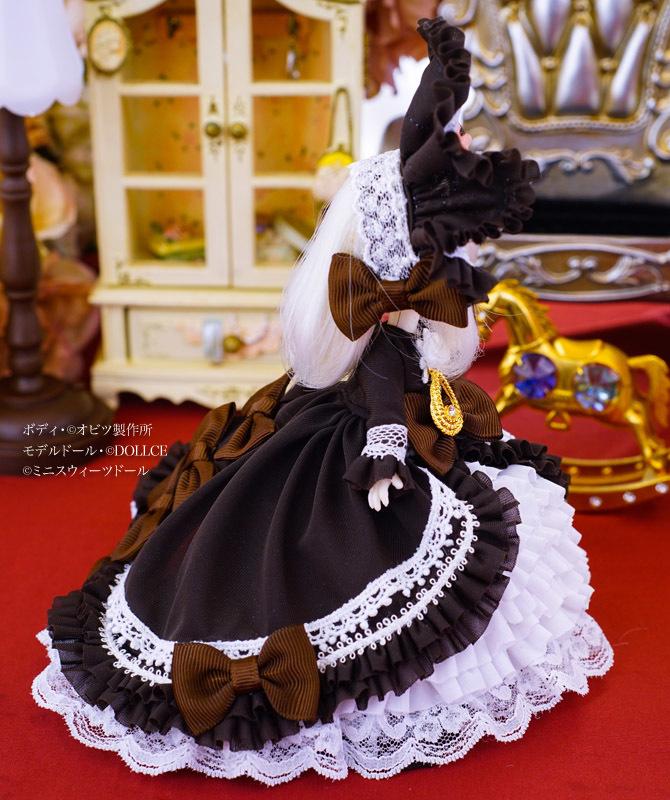 【恋鞠堂】オビツ11サイズ・クラシカルドレス(ビターチョコレートブラック)_画像5