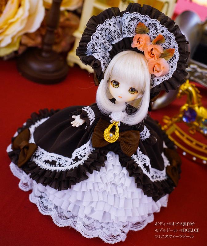 【恋鞠堂】オビツ11サイズ・クラシカルドレス(ビターチョコレートブラック)