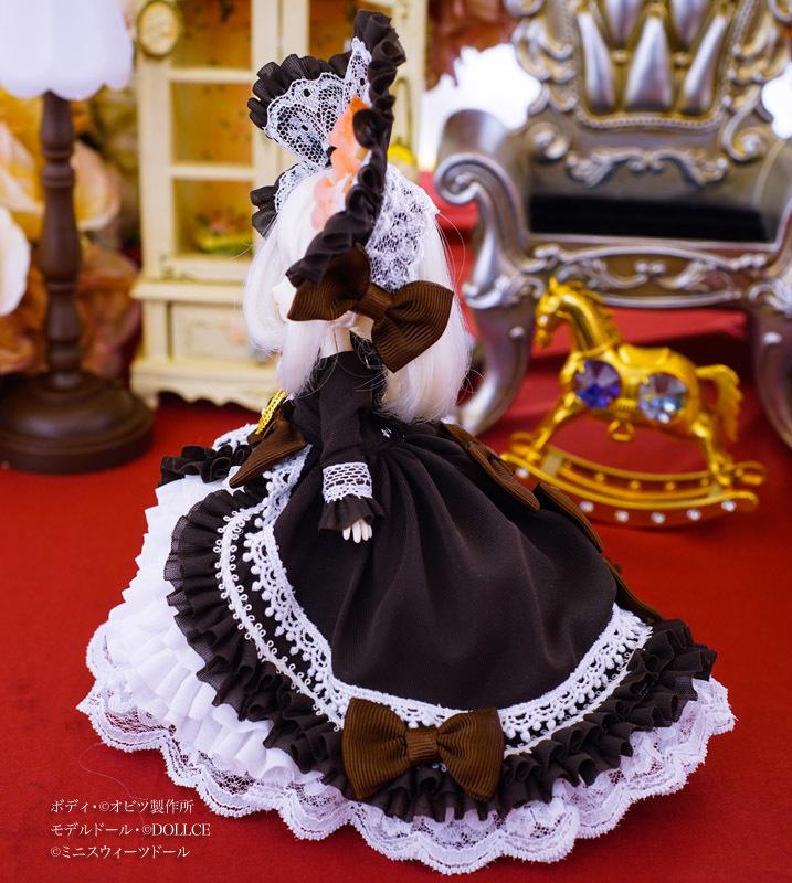 【恋鞠堂】オビツ11サイズ・クラシカルドレス(ビターチョコレートブラック)_画像3