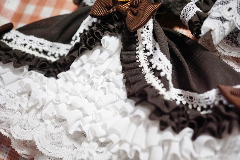 【恋鞠堂】オビツ11サイズ・クラシカルドレス(ビターチョコレートブラック)_画像10