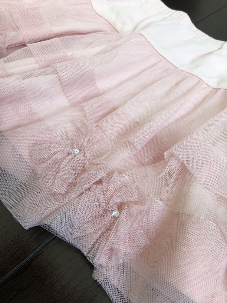 [春夏]ジルスチュアート NY レーススカート キュロット 130cm*ピンク*used*_画像3