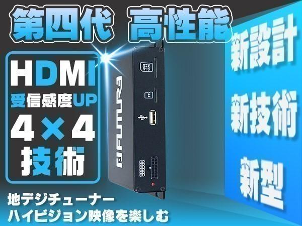 1円~地デジチューナー 車載用 高性能 1080P 4×4 フルセグ ワンセグ HDMI AV出力 カー用品 DC12V~24V 1年保証