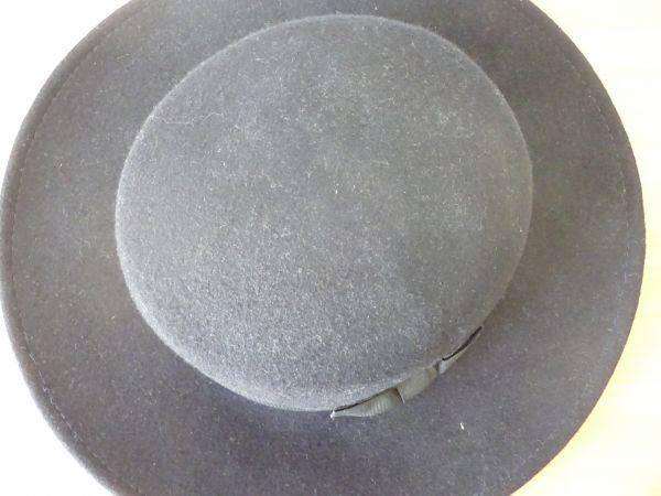 ⊿grove⊿ワールド レディース・婦人用 ポーラーハット つば広ハット 紺色 サイズ57・5cm 帽子 未使用保管品_画像5