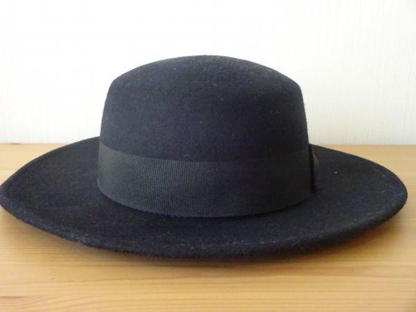 ⊿grove⊿ワールド レディース・婦人用 ポーラーハット つば広ハット 紺色 サイズ57・5cm 帽子 未使用保管品_画像2