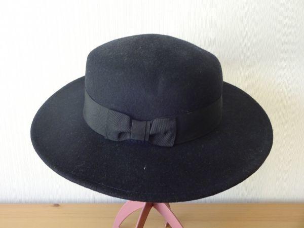 ⊿grove⊿ワールド レディース・婦人用 ポーラーハット つば広ハット 紺色 サイズ57・5cm 帽子 未使用保管品_画像1