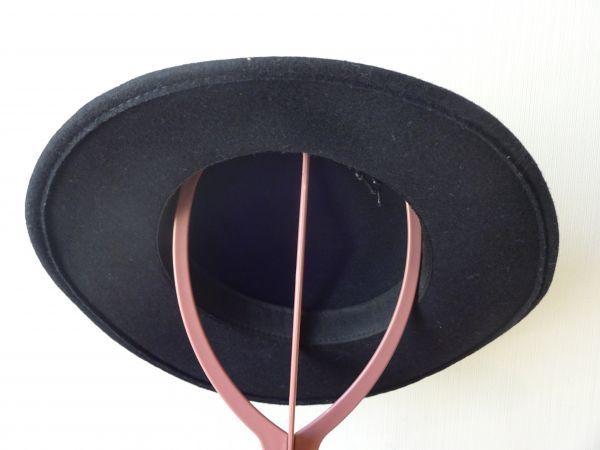 ⊿grove⊿ワールド レディース・婦人用 ポーラーハット つば広ハット 紺色 サイズ57・5cm 帽子 未使用保管品_画像4