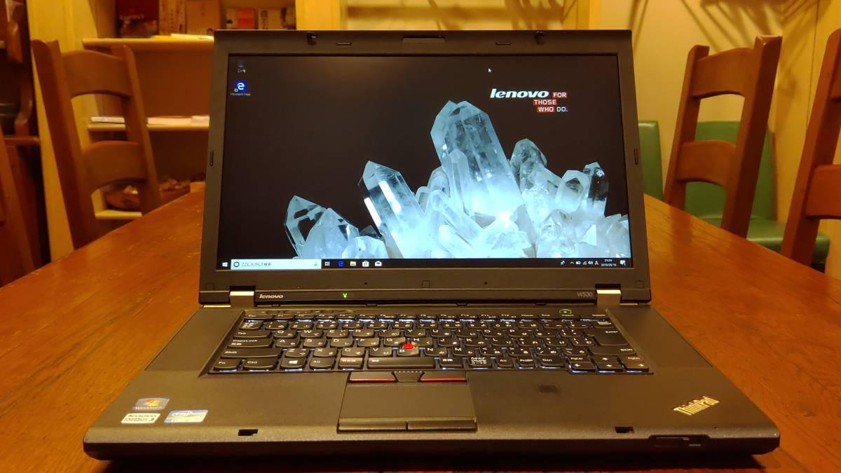 良品 上位モデル ワークステーション 高速SSD lenovo ThinkPad W530 Core i7-3630QM 8G 新SSD480GB+HDD1TB Quadro K2000M office2016
