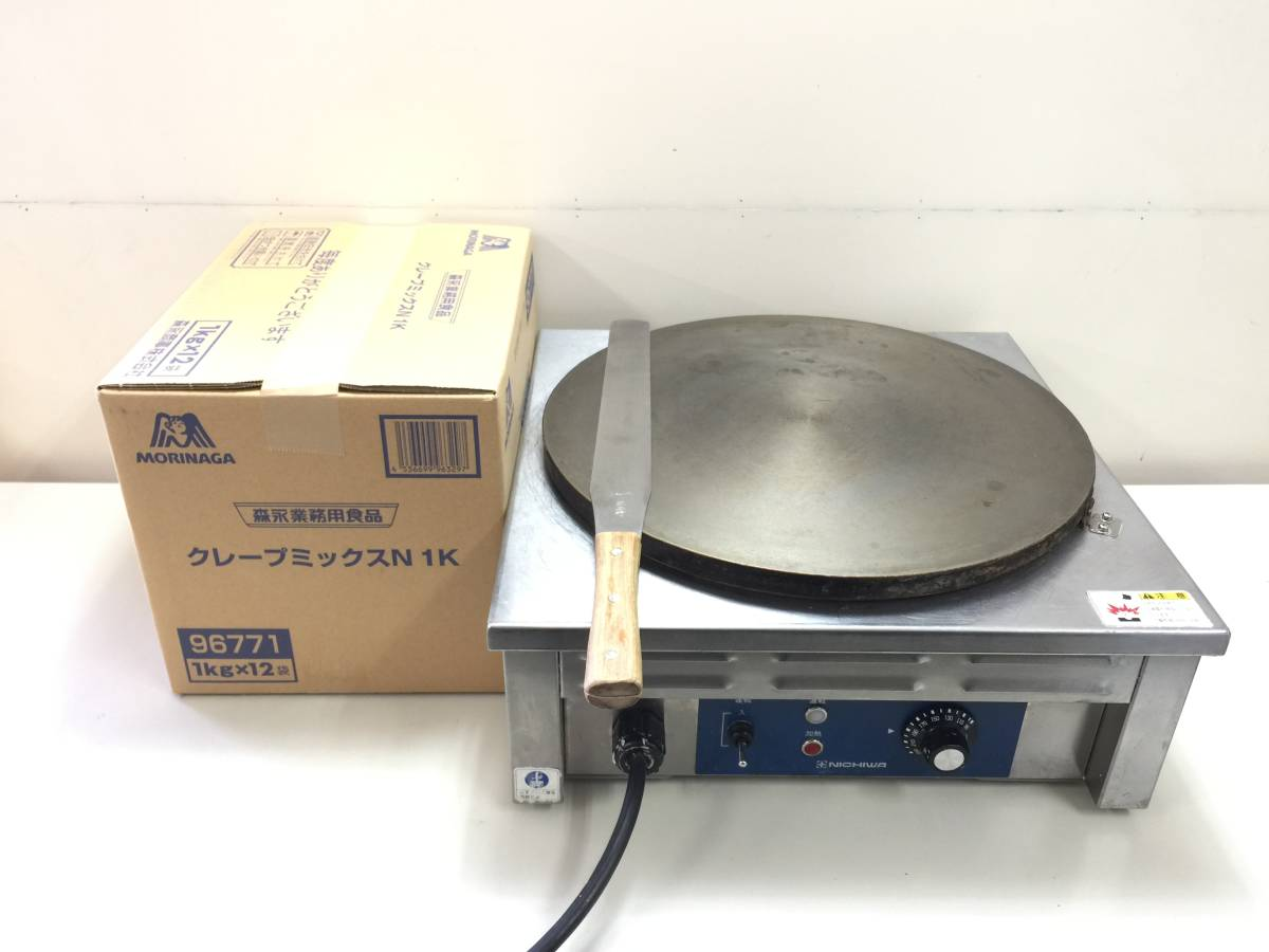 ■NICHIWA/ニチワ 電気クレープ機 CM-410 未開封クレープミックスN 1K(12Kg)セット■1026-上