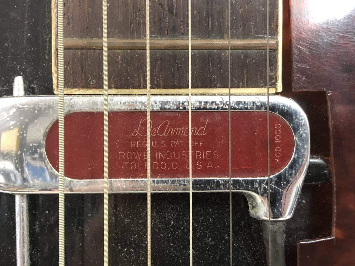■激安スタート■KAY アーチトップギター L8362 ビンテージギター ピックアップ USA De armond/ディ アルモンド MOD 1000■I-284_画像3
