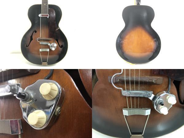 ■激安スタート■KAY アーチトップギター L8362 ビンテージギター ピックアップ USA De armond/ディ アルモンド MOD 1000■I-284_画像2