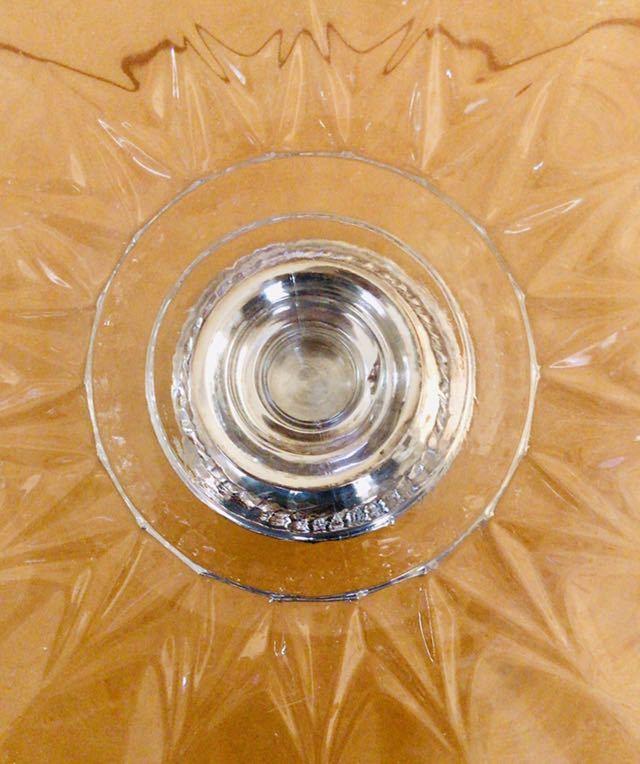 ☆ヴィンテージ ニューポート社 スターリングシルバー ☆ガラス コンポート ケーキスタンド ☆NEWPORT STERLING_画像7