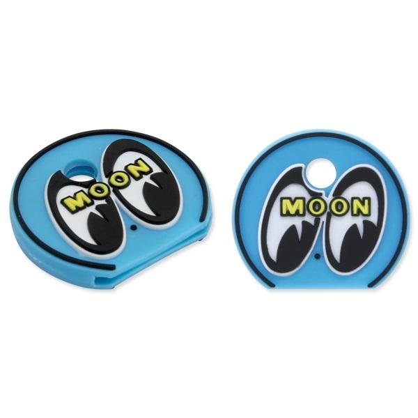 mooneyes ムーンアイズ アイボール キーキャップ ライトブルー ぺったんこ 絵柄は立体 キーホルダー moon eyes eyeball 色違いでぜひどうぞ_両面同じです。