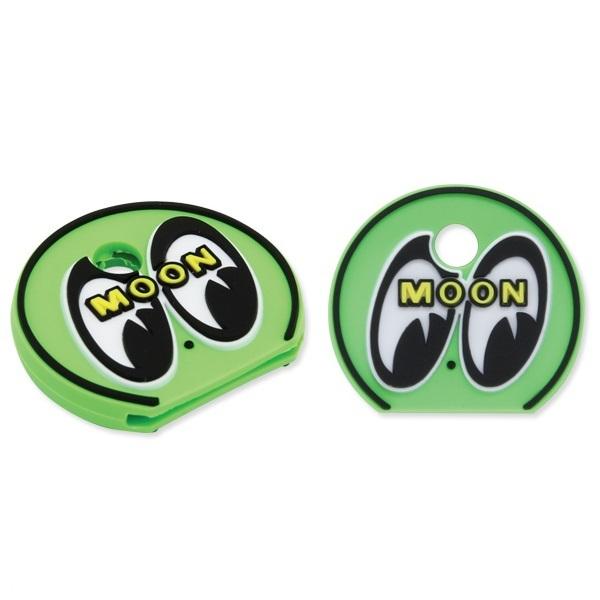 mooneyes ムーンアイズ アイボール キーキャップ グリーン 緑 ぺったんこ 絵柄は立体 キーホルダー moon eyes eyeball 色違いでぜひどうぞ_両面同じです。