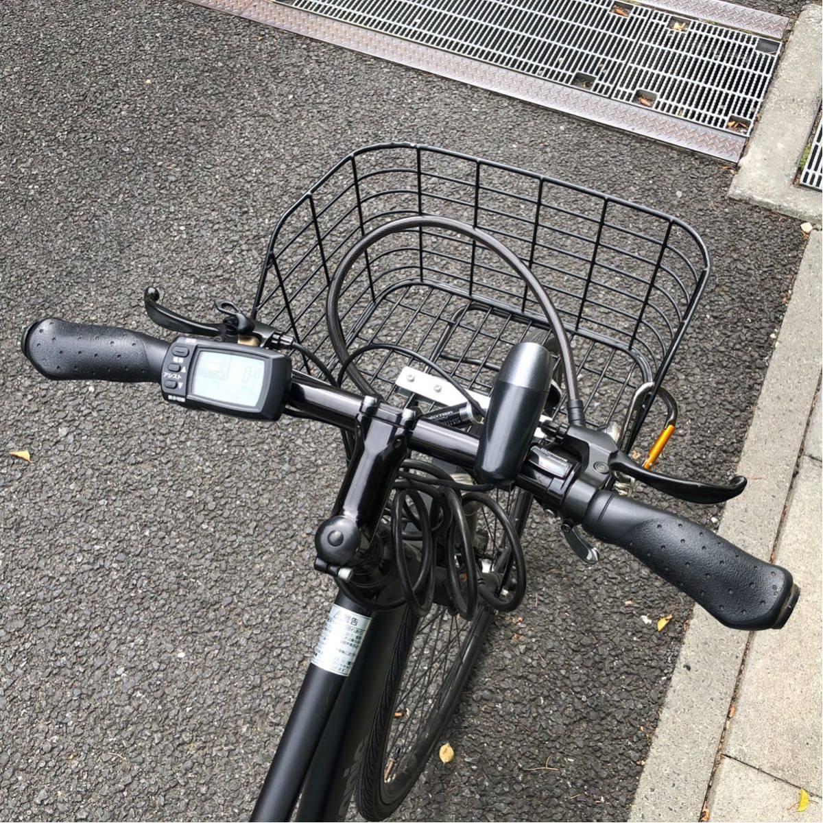 パナソニック ジェッター JETTER 電動自転車 クロスバイク マットブラック 美車 不具合無し 埼玉発 自転車_画像5