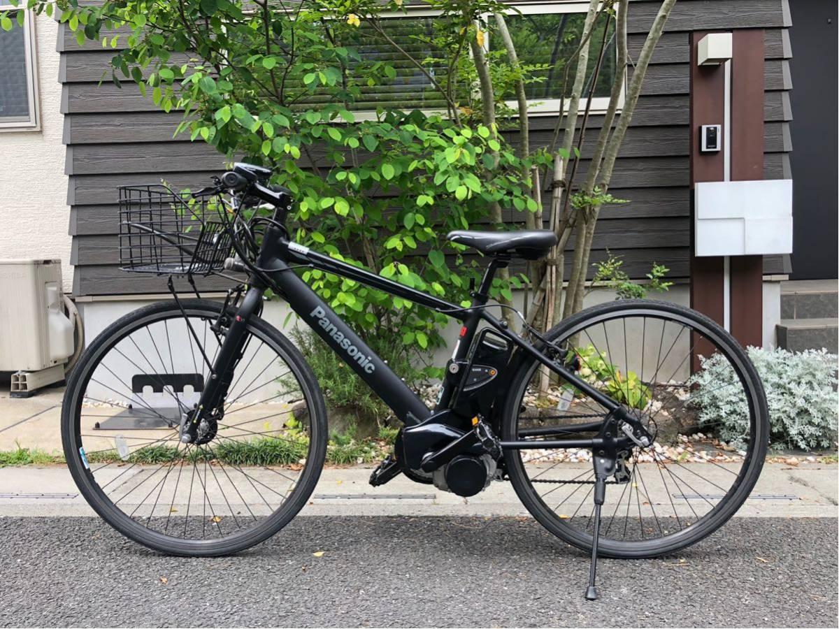 パナソニック ジェッター JETTER 電動自転車 クロスバイク マットブラック 美車 不具合無し 埼玉発 自転車