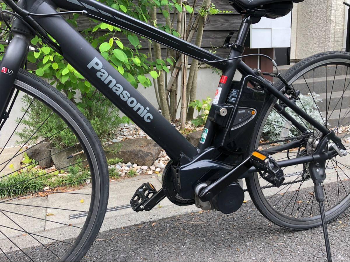 パナソニック ジェッター JETTER 電動自転車 クロスバイク マットブラック 美車 不具合無し 埼玉発 自転車_画像3