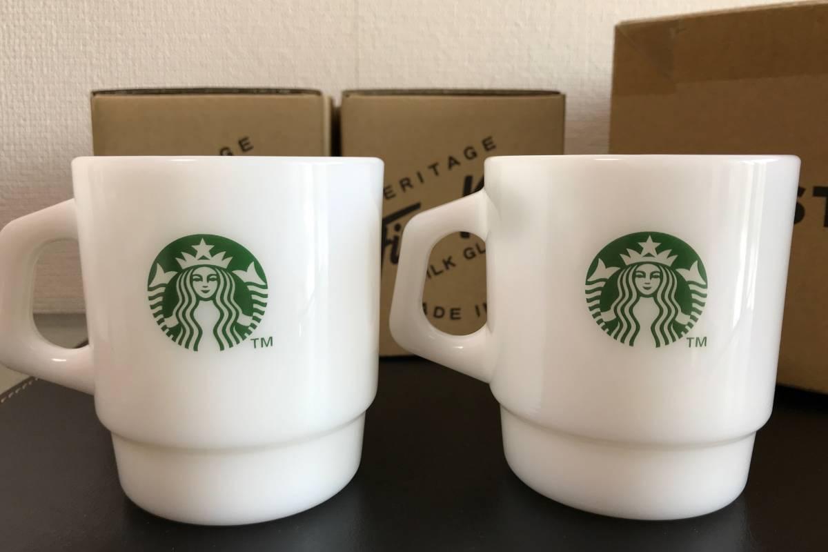 【2個セット】 オンラインストア限定 STARBUCKS グラスマグ スタアバックス珈琲 207ml ファイヤーキング製 マグカップ _画像2
