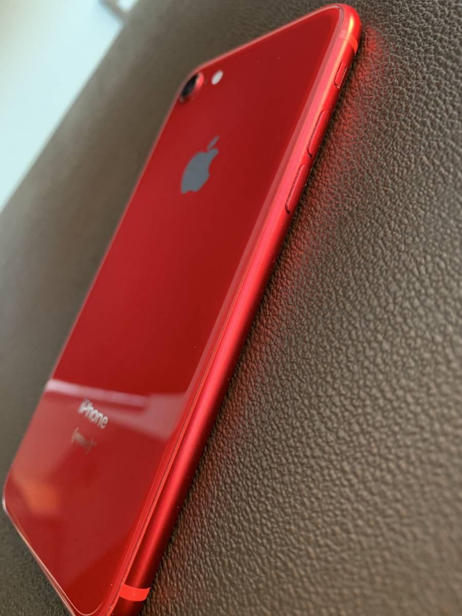 送料無料!人気色 ☆ iPhone8 SIMフリー 64GB PRODUCT RED 付属品新品未使用品。_画像2