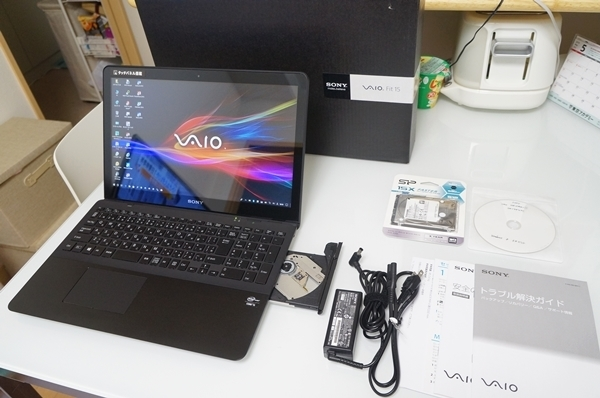 VAIO Fit 15 SVF15A17CJB Windows10 i5 8GB 新品SSD 512GB+SSHD1TB ブルーレイ Full HD タッチパネル Office 2016 Pro Plus 美品・送料込み