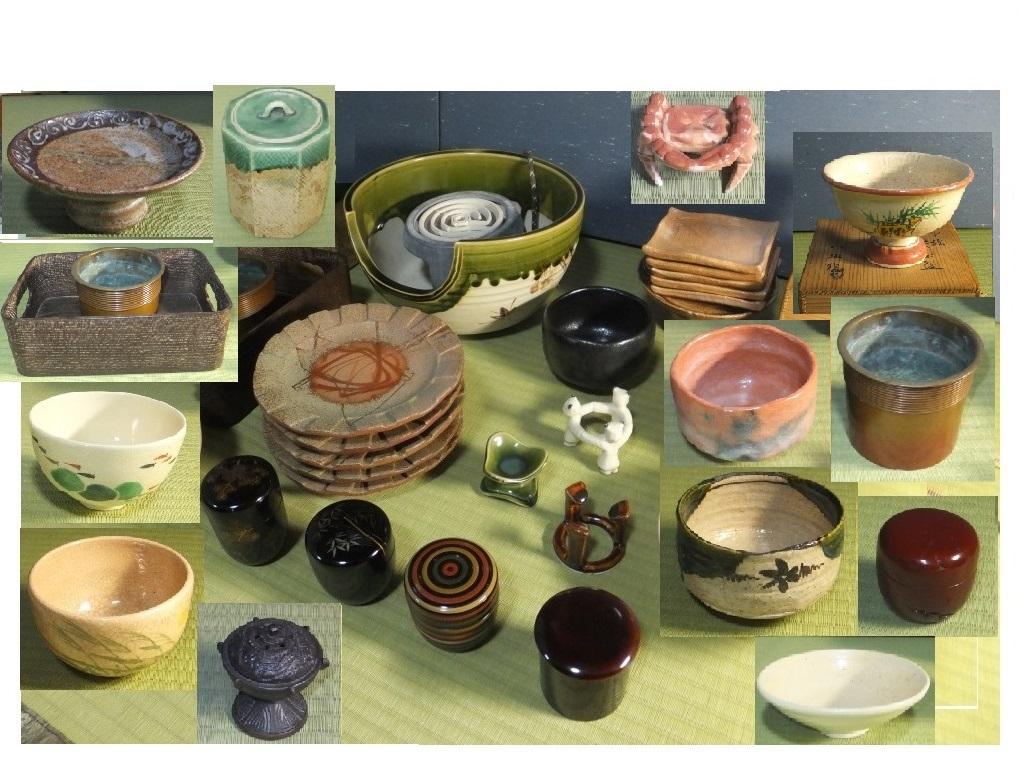 ◆茶道具 色々未使用 使用品 紅鉢織部 新品◆菓子器 茶碗 タバコ盆 水指他 木共箱 つきもあり 箱なしもあり殆ど紙箱