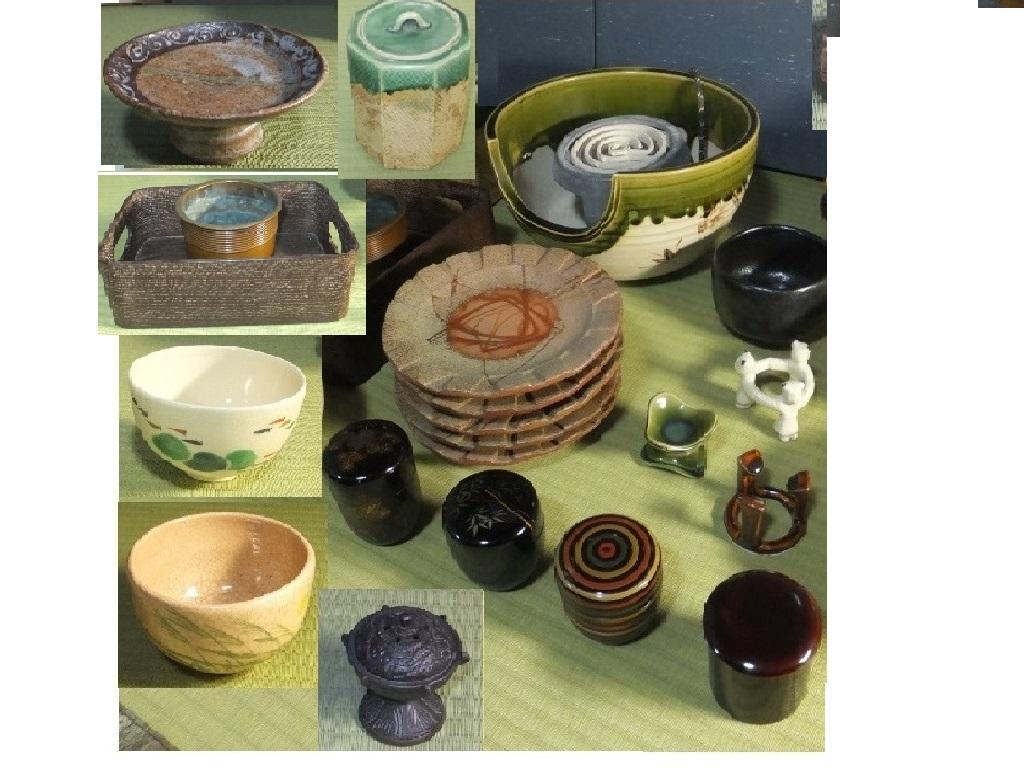 ◆茶道具 色々未使用 使用品 紅鉢織部 新品◆菓子器 茶碗 タバコ盆 水指他 木共箱 つきもあり 箱なしもあり殆ど紙箱_画像3