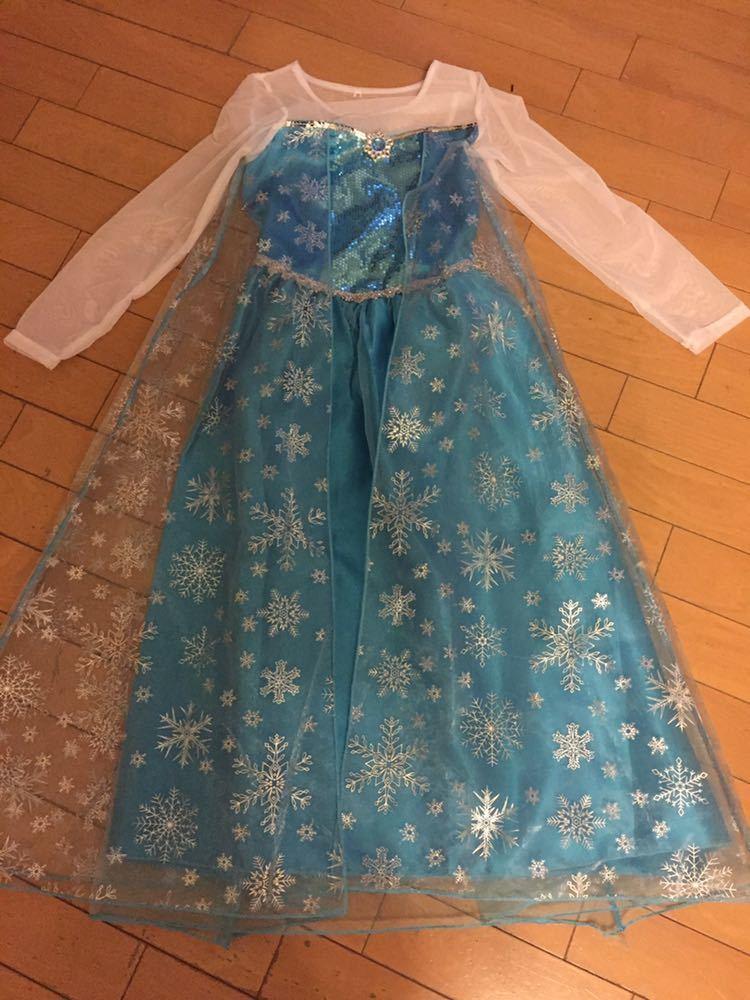 【美品】アナと雪の女王 エルサ ドレス サイズ160 プリンセス